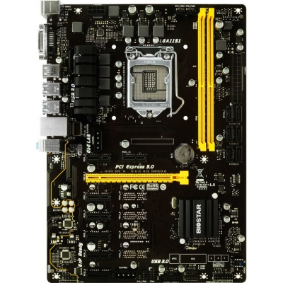 Placa de baza Biostar TB250-BTC+, LGA 1151 Intel B250 SATA 6Gb/s USB 3.0, 8 slot PCIE