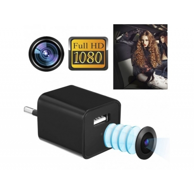 Adaptor de priza cu camera full hd 1080p/încărcător de telefon/memorie interna 8 GB