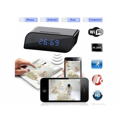 Ceas de birou cu camera spion Full HD 1080 P cu  Wi-Fi / P2P / Live Stream si NIGHT VISION + card 32 GB  Gratuit!