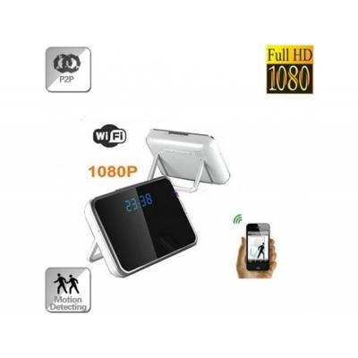 Microcameră Spion Wi-Fi IP P2P Ascunsă În Ceas De Birou, Senzor Mişcare, 32Gb, 1080p