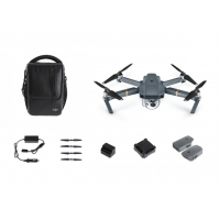 DJI Mavic Pro Fly Combo - Drona Portabilă cu Gimbal 3D şi cameră 4K, 12MPx + Husa DJI si Card 64GB Sandisk cadou