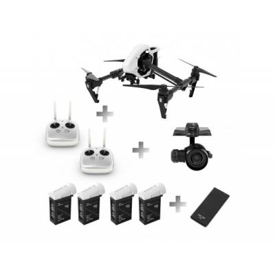 DJI Inspire 1 RAW, Drona cu Gimbal Zenmuse X5R şi Cameră RAW 4K Profesională + Telecomanda suplimentara + 4 Baterii suplimentare