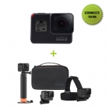 GoPro HERO7 Black + Adventure kit GoPro (Floating hand grip, Head strap + quick clip, carcasa compacta)
