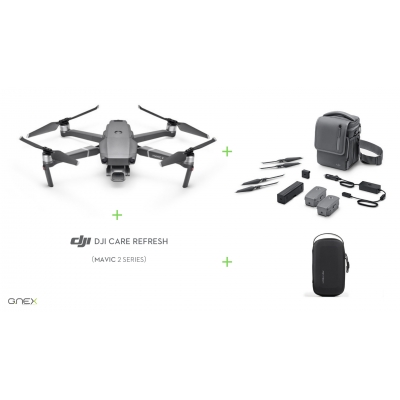 Drona DJI Mavic 2 PRO Fly More Combo + DJI Care Refresh + Geanta mini Pgytech
