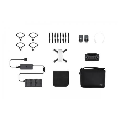 Drona DJI Spark, Control Gesturi, 12MP - Pachetul Fly More Combo + Card 16GB si skin Pgytech CADOU!