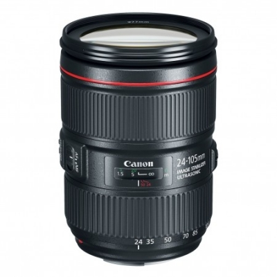 Obiectiv Foto Canon EF 24-105mm f/4 IS USM L II (white box)