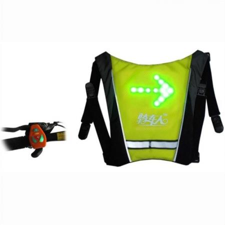 Accesoriu reflectorizant cu sistem de semnalizare Joyor, sistem de prindere pe rucsac + telecomanda