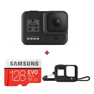 GoPro Hero8 Black + card Samsung Evo Plus 128GB + Sleeve cadou