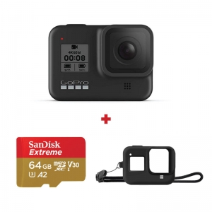 GoPro Hero8 Black + card Sandisk Extreme 64GB + Sleeve cadou