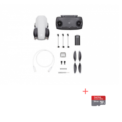 DJI Mavic Mini, Gimbal 3 axe, 2.7K video, Autonomie 30min, 249g + card Sandisk 64gb Cadou