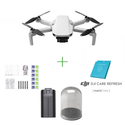 DJI Mavic Mini + Asigurare DJI Care Refresh + Baterie inteligenta + Kit creativ DIY