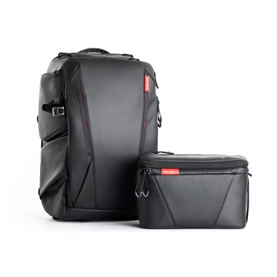 Rucsac pentru echipament foto sau drona, OneMo, 25L + geanta de umar PGYTECH (Twilight Black)