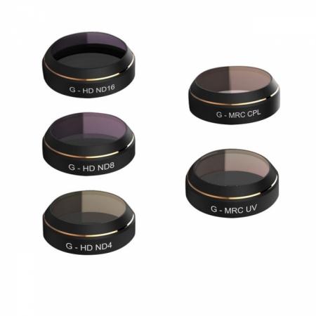 Set 5 Filtre PGYTECH pentru DJI Mavic Pro - G-UV,  ND4, ND8, ND16, CPL