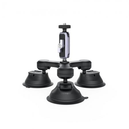 Suction mount cu trei brate PGYTECH pentru camera de actiune, smartphone, aparate foto mirrorless