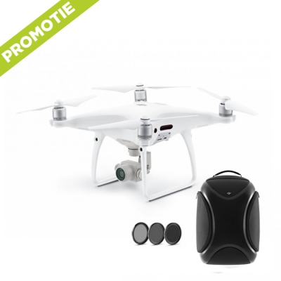 Phantom 4 Pro + Rucscac Hardshell, filtru ND, skin si card 16GB!