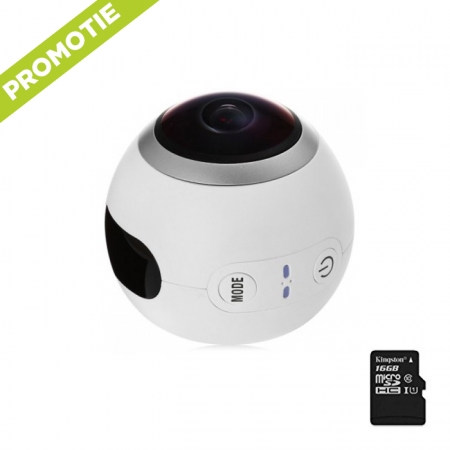 SJCAM SJ360, Camera sport Video si Foto 360º, Senzor 2K Sony, 12MP, Wifi + Card 16gb