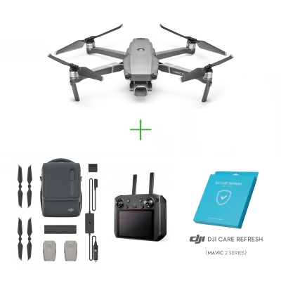 Drona DJI Mavic 2 PRO + Smart controller + Kit Fly More Combo + Asigurare DJI Care Refresh