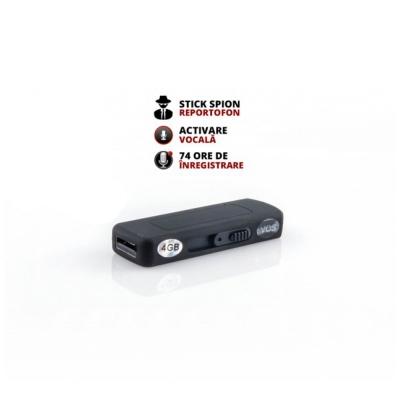 Stick Reportofon Spion cu Activare Vocala, 74 ORE de inregistrare
