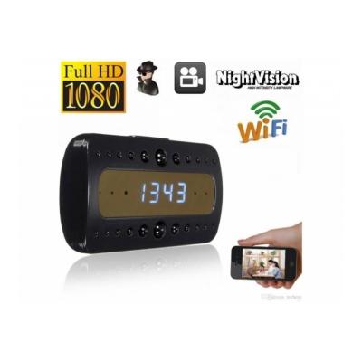 Ceas de birou cu camera Full HD, WIFI si Night Vision, P2P LIVE CAM + card 16 Gb Cadou