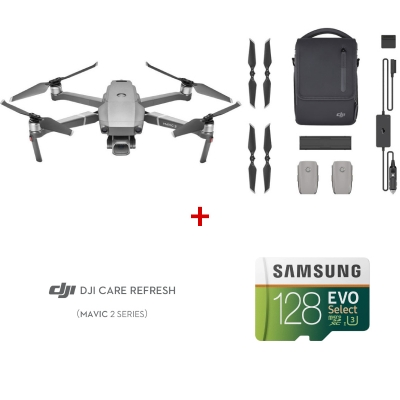 Drona DJI Mavic 2 PRO Fly More Combo + DJI Care Refresh + card Samsung 128GB