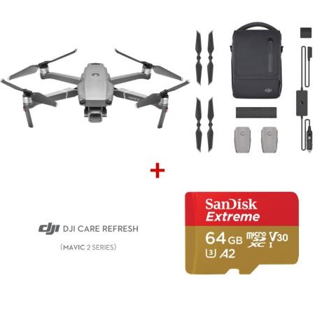 DJI Mavic 2 Pro Fly More Combo + DJI Care Refresh + card Sandisk Extreme 64GB