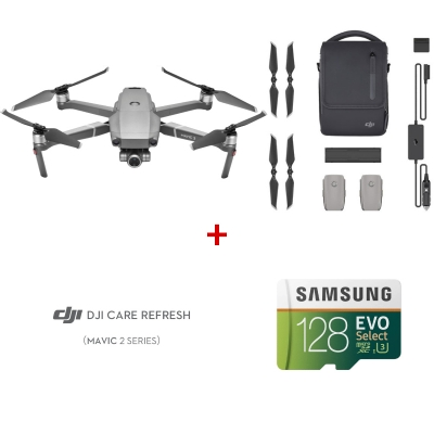 Drona DJI Mavic 2 ZOOM Fly More Combo + DJI Care Refresh + Card Samsung 128Gb