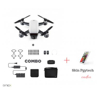 Drona DJI Spark, Control Gesturi, 12MP - Pachetul Combo + Card 16GB si skin Pgytech CADOU!