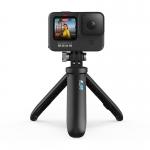 GoPro HERO9 Black, 5K30, 20MP, HyperSmooth 3.0, ecran frontal color + Shorty (Mini trepied extensibil)