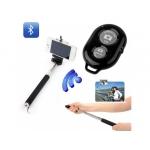 Monopied Selfie extensibil cu suport pentru telefon şi telecomandă Bluetooth