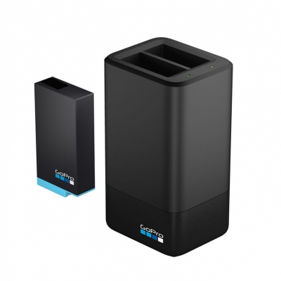 Dual battery charger + baterie suplimentara Hero MAX 360