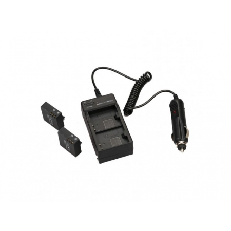 2 in 1 Incarcator Dublu pentru Priza si Masina - Compatibil cu Acumulatori SJ4000,Sj5000,SJ6000