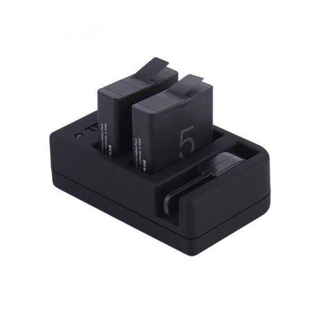 Set Incarcator Pentru 2 Baterii si Slot Incarcare Telecomanda Telesin + 2 Baterii Compatibil GoPro Hero 5/6
