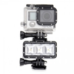 TELESIN Dual batteries waterproof lights pentru GoPro 6/5/4