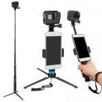 Selfie stick / trepied Telesin pentru camere sport, 0.9 m