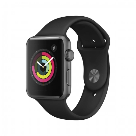 Apple Watch 3 GPS Space Gray Aluminium, Black Sport Band, 42mm