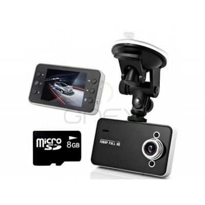 Cameră auto DVR H200, Full HD + Card 16GB Gratuit