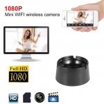 Scrumiera cu camera de supraveghere HD, Wi-Fi, Waterproof, Detectie la miscare
