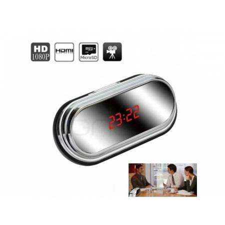 Ceas Digital Oglinda Cu Camera Ascunsa si Detectie la Miscare Full HD 1080P
