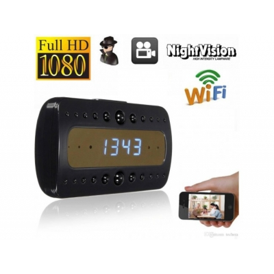 Ceas de birou cu camera Full HD, WIFI si Night Vision ,P2P LIVE CAM + card 16 Gb Cadou