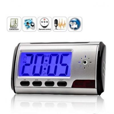 Ceas de birou cu cameră Spion HD 720P, senzor de mişcare şi card 16GB Gratuit