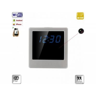 Ceas de Birou cu Microcameră Spion Integrată, Wi-Fi IP, P2P, Senzor Mişcare, 32Gb, 720p