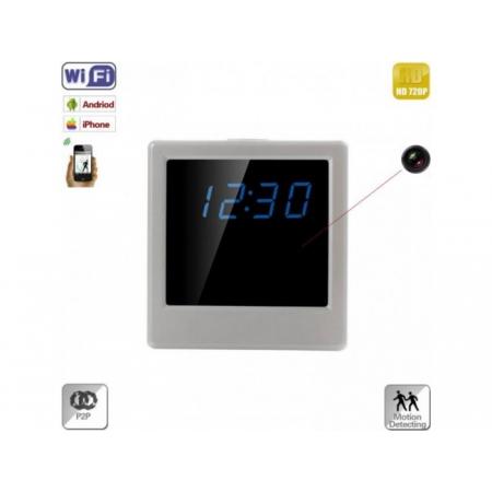 Ceas de Birou cu Microcamera Spion Integrata, Wi-Fi IP, P2P, Senzor Miscare, 720p