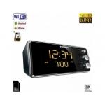 Ceas Cu Radio, Minicamera Video de Spionaj WI-FI IP P2P Mascata, 32 GB, 1080p, Senzor Miscare, model Phillips