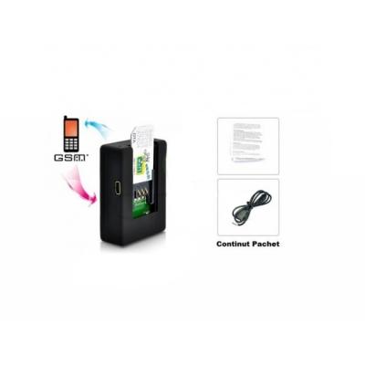 Microfon GSM Spion N9, Dispozitiv Supraveghere Monitorizare cu Cartelă GSM/SIM, Activare Vocală