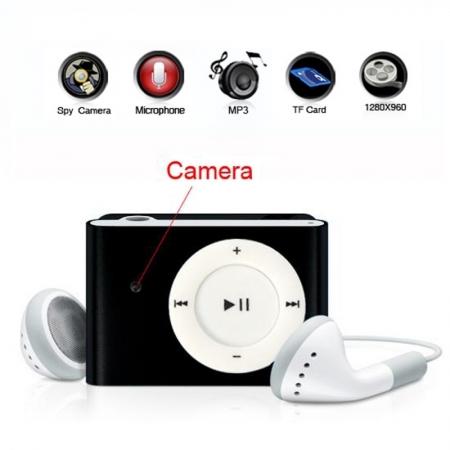 MP3 cu Camera Spion, Autonomie 160 de minute,  HD + card 16GB CADOU!