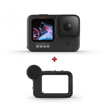 GoPro HERO9 Black, 5K30, 20MP, HyperSmooth 3.0, ecran frontal color + Media Mod