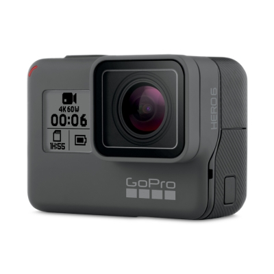 GoPro HERO 6 Black + Card 64GB Gratuit, 4K@60fps, Comenzi Vocale, Touch Zoom