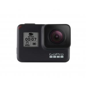 GoPro Hero 7 Black -  Comenzi vocale, Stabilizare video, Wi-Fi, GPS, Rezistent la apa, 4k60/1080p240