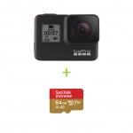 GoPro HERO7 Black + Card 64GB Sandisk