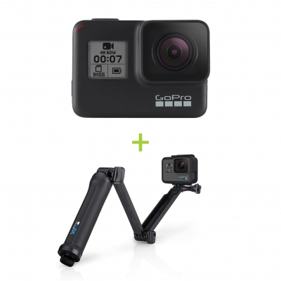 GoPro HERO7 Black + Monopied 3 Way